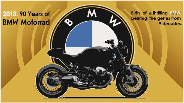 O selo que vai comemorar os 90 anos da BMW Motorrad