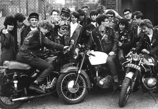 Os Scorpions formaram um dos mais famosos grupos demotociclistas do Ace Cafe