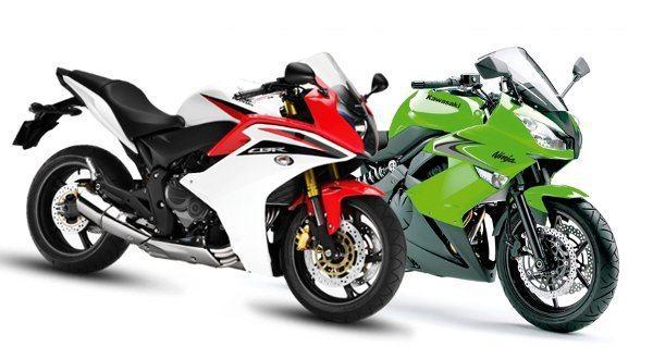 CBR 600 F e Ninja 650 R Mesma categoria com abordagens diferentes