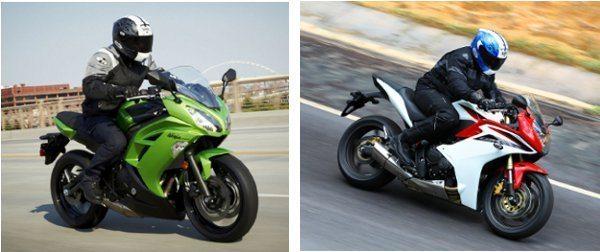 Mais conforto da Kawasaki x Mais esportividade da Honda