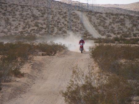 Team HRC nos últimos testes no Deserto de Mojave, antes do Dakar