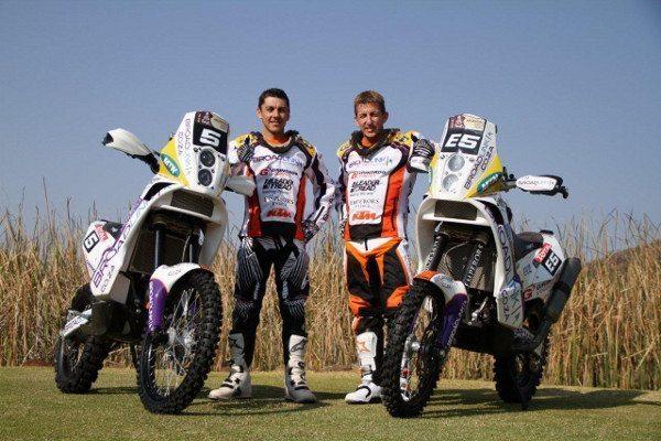 """Darryl Curtis e Riaan van Niekerk, do Team """"B"""" da KTM"""