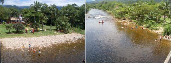 Recanto às margens do Rio Nhundiaquara, tentador convite para um mergulho