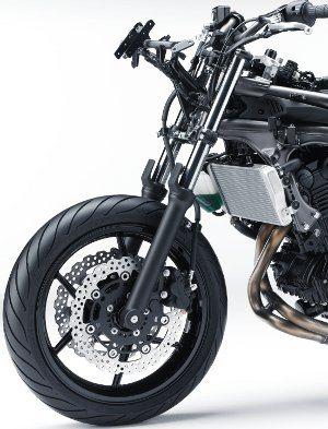 Kawasaki Ninja 650-suspensão dianteira convencional