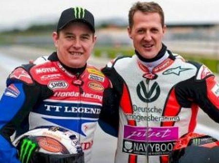 McGuinness e Schumacher no circuito de Paul Ricard