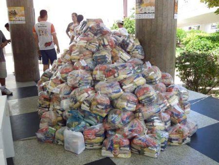 Estima-se a distribuição de 4 ton de alimentos para entidades assistenciais do Piauí