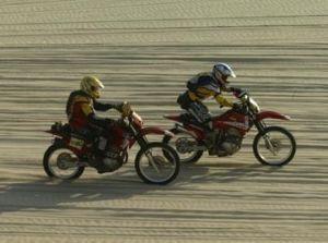 Trecho com piso de areia no Rally Piocerá