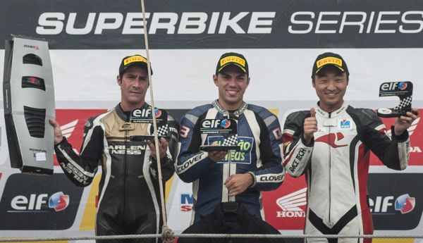 Pódio da 600cc SuperSport Pró