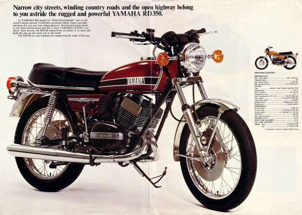 Por ser mais barata, a Yamaha RD 350 era a mais abundante na época