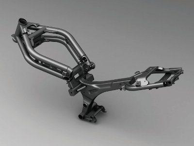 Chassi da Ninja 650 tem concepção atual - Tubos periféricos e motor como parte da estrutura