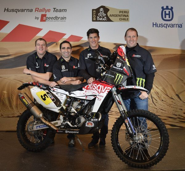 Husqvarna Rally Team: Matt Fish, Paulo Gonçalves, Joan Barreda e Alessandro Botturi