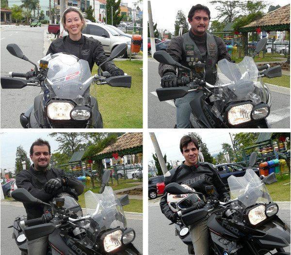 No sentido horário, começando do alto à esquerda, os quatro felizardos: Márcia, Rock, Renan e Claudio