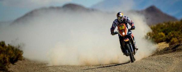 Despres, com sua KTM numeral #1 foi o mais rápido do dia, mas continua em segundo na classificação geral