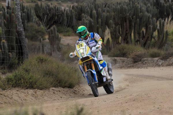 Sendo o único brasileiro na categoria motos do Rally Dakar 2013, Jean Azevedo concluiu a competição na 23ª colocação - Foto by Maindru
