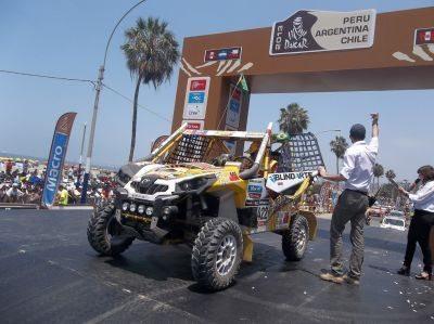 Brasileiro Reinaldo Varela na largada do Rally Dakar 2013