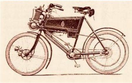 Bicicleta motorizada lançada pela Enfield em 1901