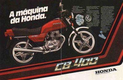 Sucesso de vendas, a CB 400 foi lançada em 1980