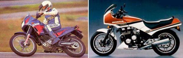 NX 350 Sahara e CBX 750 F, ambas lançadas em 1980