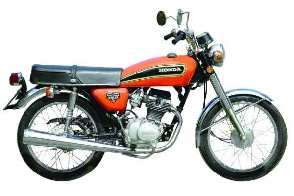 """CG 125 """"Bolinha"""", a primeira moto Honda produzida no Brasil, em 1976"""