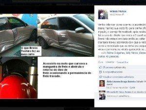 Reprodução do post no Facebook  onde o Sr. Wânio faz a sua defesa.
