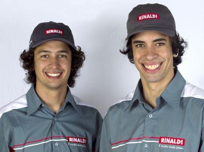 Marcello Ratinho e Dudu Lima são pilotos patrocinados pela Rinaldi