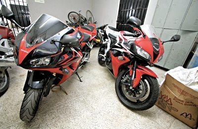 Desmanche de motos descoberto no Ceará