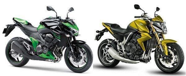 Z800 e CB 1000R: duas motos concorrentes, mas com dados e especificações obtidos por métodos diferentes