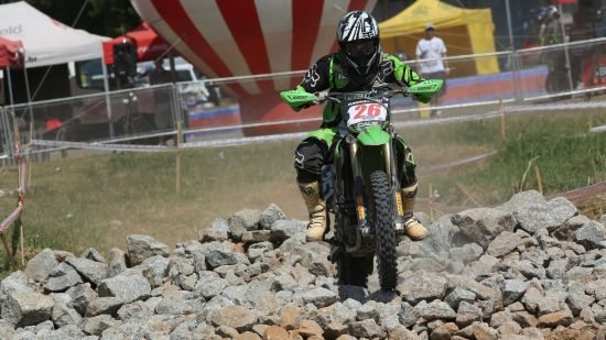 Cauê Aguiar durante a etapa final da EFX em 2012