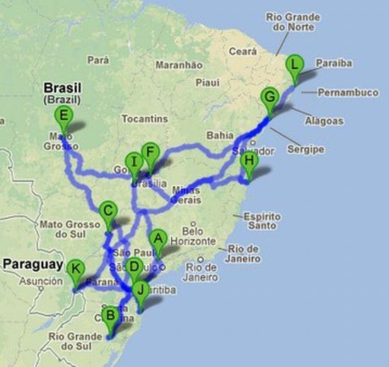 Os campeonatos percorrem o Brasil de norte a sul e de leste a oeste