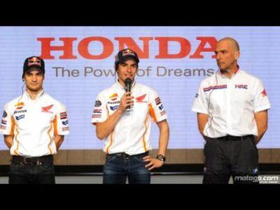 Pedrosa, Marquez, Suppo da Repsol Honda Team