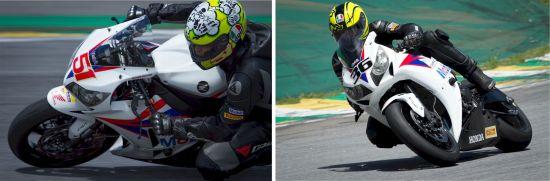 Cachorrão e Maico Teixeira, pilotos da Equipe Honda Mobil