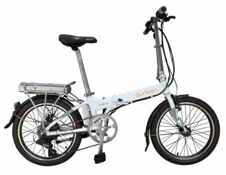 Bicicleta elétrica dobrável (aberta)