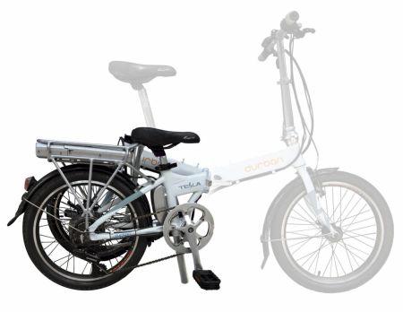 Bicicleta elétrica dobrável (mesclada)