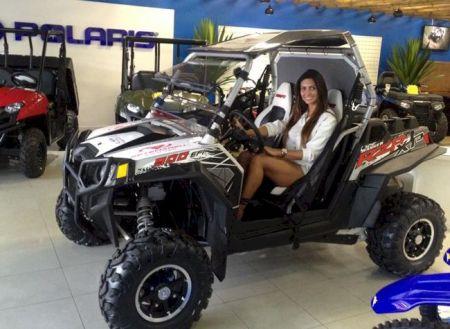 Helena Soares participou da prova na categoria Graduadas, à bordo de um UTV