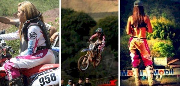Um pouco de encanto feminino nas pistas de motocross - fotos de Amarildo Martins, MotoX e Fred Mancini