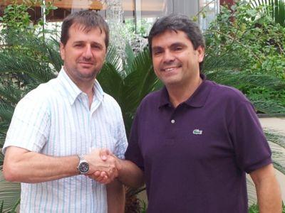 Gilson Scudeler, promotor do Moto 1000 GP, e o presidente da CBM, Firmo Henrique Alves