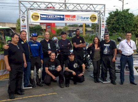 Pilotos que participaram da primera edição da prova de Moto-Turismo homologada pela CBM