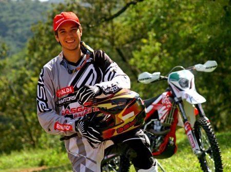 Rômulo Bottrel é piloto de enduro da Gas Gas Racing Team