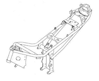 Chassi de dupla viga tubular tem o motor como peça estrutural