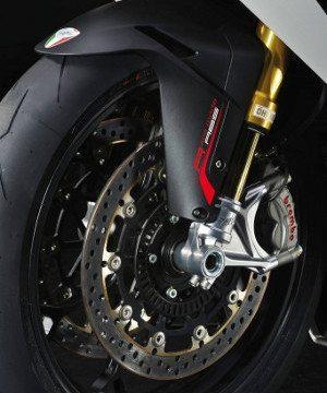 Detalhe do ABS na nova F4 RR: exclusividade para poucos