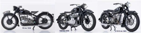 Observe que o modelo de 1948 tem motor vertical monocilíndrico
