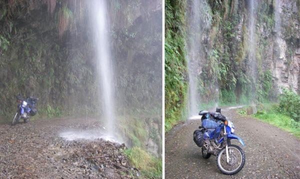 Verdadeiras cachoeiras se formam sobre a estrada - by Rigon Hoch