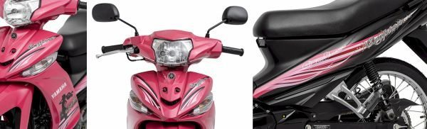 Detalhes da nova Yamaha Crypton Penélope Charmosa
