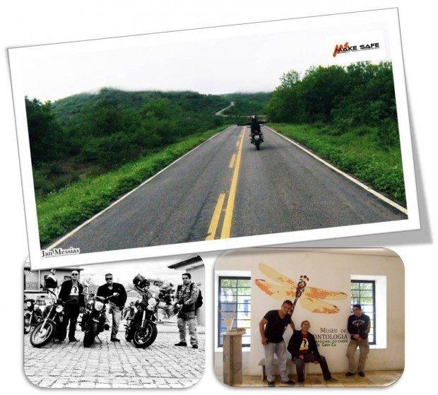 Um dia inesquecível na companhia de Jan Messias (125cc) e Luís Cristiano (1250cc) em ritmo de 125cc, devagar, sim; na velocidade que permitia curtia a estrada e a paisagem