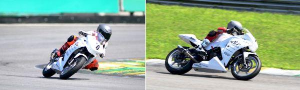 Meikon Kawakami (11 anos) e Ton Kawakami (12 anos), os meninos da Alex Barros Racing