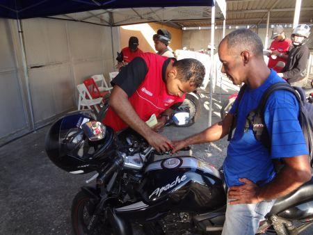 Programa Estrada para a Saúde - Motos realizado pela CCT NovaDutra no último dia 17