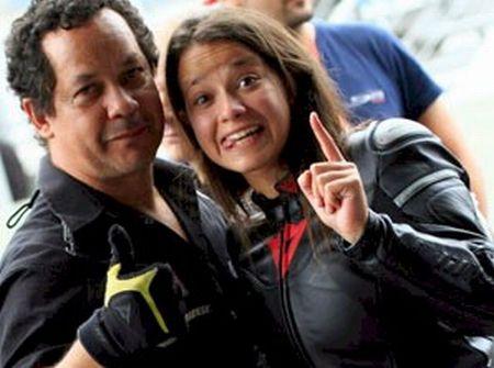 Sabrina Paiuta e seu pai e chefe de equipe Eduardo Paiuta