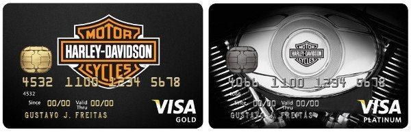 Cartões Harley-Davidson: anuidade também é premium: R$324,00 (Gold) e R$450,00 (Platinum)
