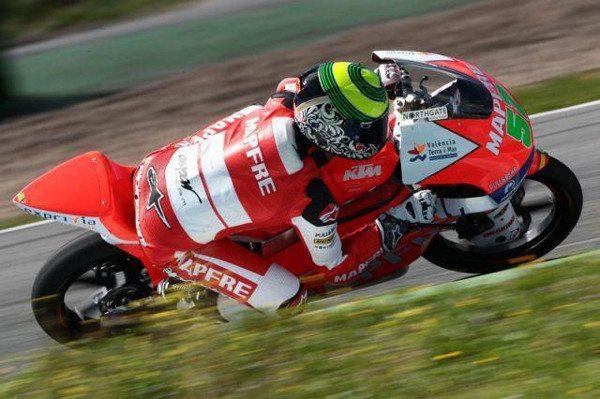 Eric Granado testa a nova moto