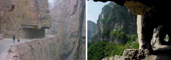 O piso de pedra, extremamente perigoso quando molhado mais as cachoeiras que se formam nas encostas, tornam a passagem inviável em dias chuvosos